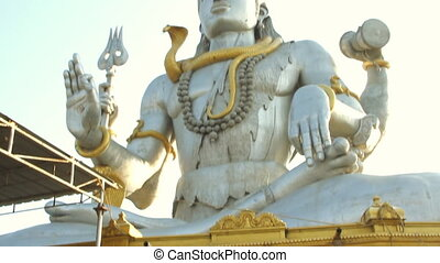 India Karnataka February 24, 2013. Statue of Lord Shiva in...