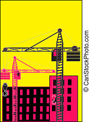 Building site - The vector illustration - Building site