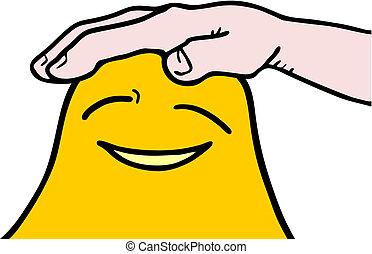 Caress yellow face - Creative design of caress yellow face