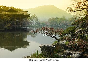 Sunset view on West Lake, Hangzhou, China