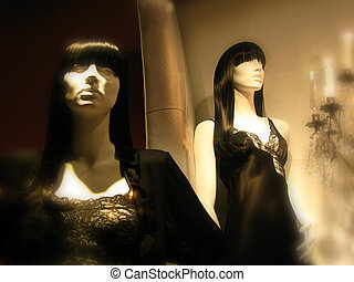 manniquin - dreamy view of mannequins in lingerie