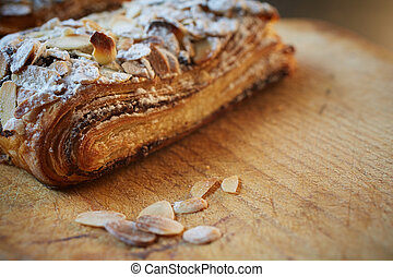 Almond chocolate croissant - Fresh chocolate and Almond...
