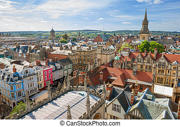 Oxford Skyline. England - Cityscape of Oxford. England,...
