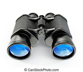 binoculars - black binoculars isolated on a white background