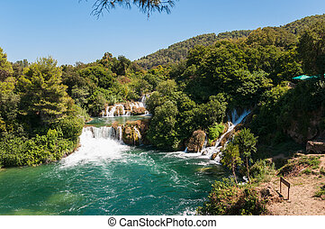 Krka National Park, Croatia - Waterfall in Krka National...