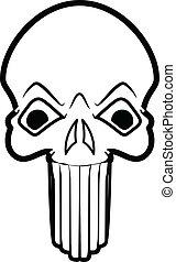 Funny Horrible Skull Face