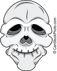 Funny Skull Mask Vector - Drawing Art of Cartoon Funny Old...
