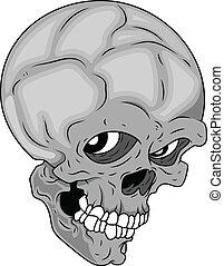 Skull Staring Vector