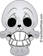 Royalty Free Vector - Funny Skull - Drawing Art of Cartoon...