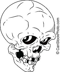 Royalty Free Vector - Skull - Drawing Art of Cartoon Scary...