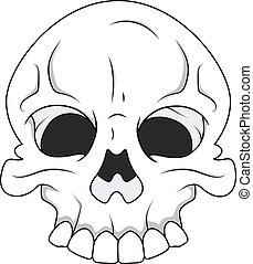 Skull - Royalty Free Vector - Drawing Art of Cartoon Scary...