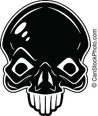 Skull with Tattoo Style