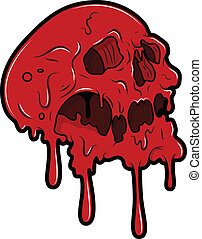 Red Skull Tattoo Vector - Drawing Art of Red Skull Tattoo...