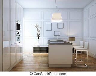 Beige Hi-Tech Kitchen