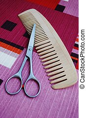 Scissors and comb