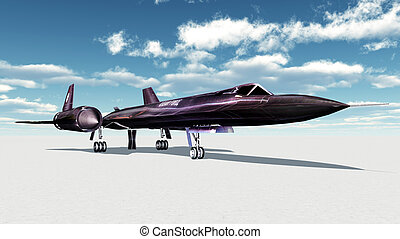 Reconnaissance Aircraft - Computer generated 3D illustration...