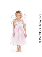 Pretty little pink fairy - Pretty little girl dressed as a...