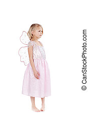 Beautiful little fairy in pink - Beautiful little girl...