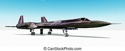 Reconnaissance Aircraft - Computer generated 3D illustration...