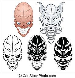 Skull Tattoo Vector Set