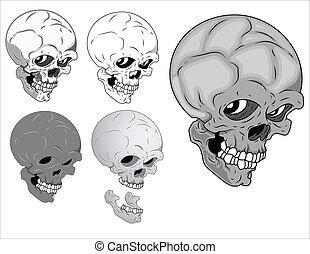 Horrible Skulls Vector
