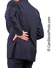 Businessman with aching back