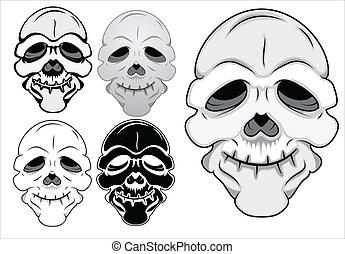 Funny Skull Vector Illustration