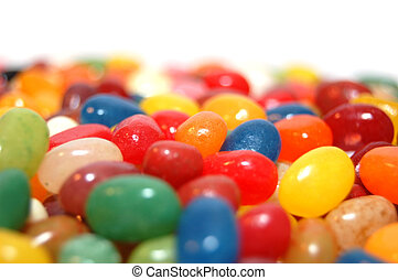 Jellybeans - A close-up of colourful jellybeans