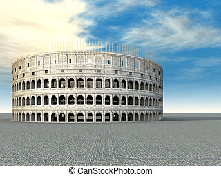 The Colosseum - Computer generated 3D illustration with the...