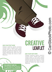 Leaflet design - Editable Leaflet template design