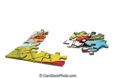 Pieces of a puzzle - Some pieces of a puzzle