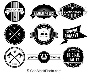 Vintage labels. Bitmap collection 4 - Set of vintage Premium...