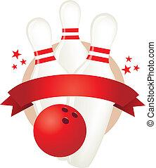 bowling banner illustration