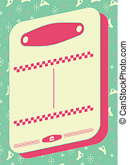 1950s Diner Style Background and Frame
