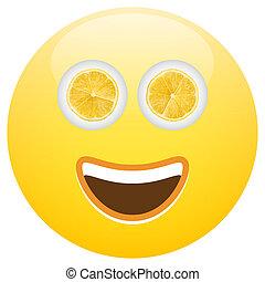 Healthy Food Smiley Face Emoticon Concept Illustration