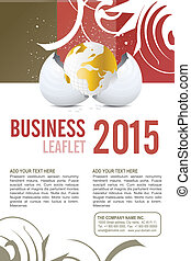 Leaflet design - Editable Leaflet template design .