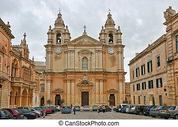 Malta - Mdina, main church of this ancient city