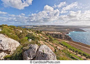 Malta - Landscape on Malta island with the sea and a nice...