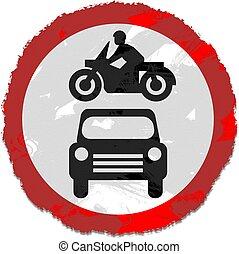 grunge road sign