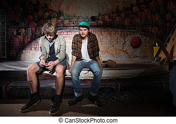 dos, aburrido, Juventud
