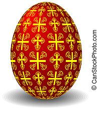 czerwony, jajko