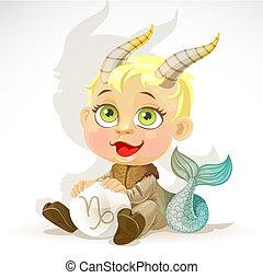 niemowlę, zodiak, -, znak, koziorożec