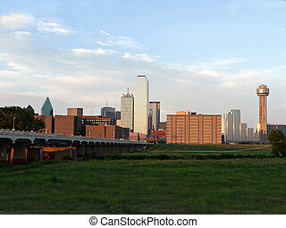 Dallas Texas Skyline - A view of downtown Dallas Texas fro...