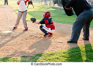Youth baseball catcher - Little league baseball catcher...