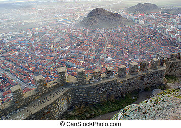 Afyon view from the top of hill, Turkey
