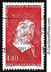 Postage stamp France 1996 Rene Descartes, Philosopher -...