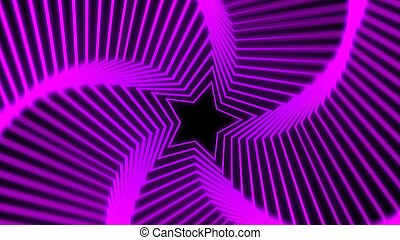 Star Radiation soft purple - The star glow rotating of...