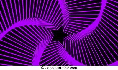 Star Radiation purple - The star glow rotating of graphic...