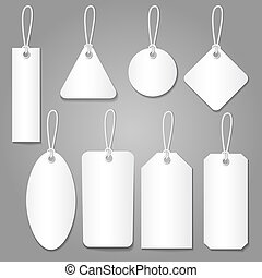 blank labels style vector set isolated