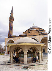 Washing - People wshing their legs in mosque in Afyon,...